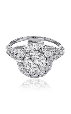 Christopher Designs Crisscut Round Engagement ring G65R-RD100 product image