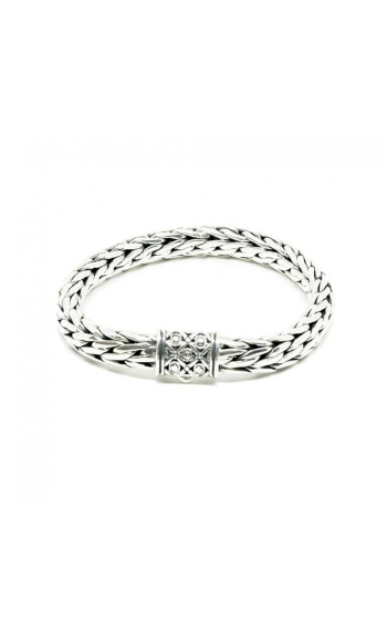 House of Bali Classic Woven Chain Silver Bracelet BCTR800 product image