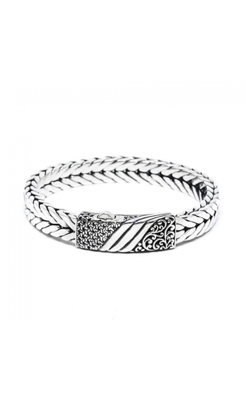 House of Bali Herringbone Chain Silver Bracelet BFTN115 product image