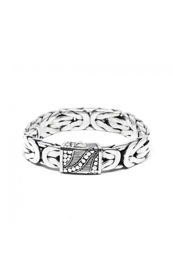 House of Bali Flat Byzantine Chain Silver Bracelet BSFB614 product image