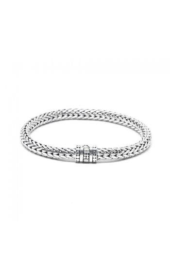 House of Bali Classic Woven Chain Silver Bracelet BSOK57 product image