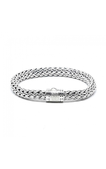 House of Bali Classic Woven Chain Silver Bracelet BSTR097 product image