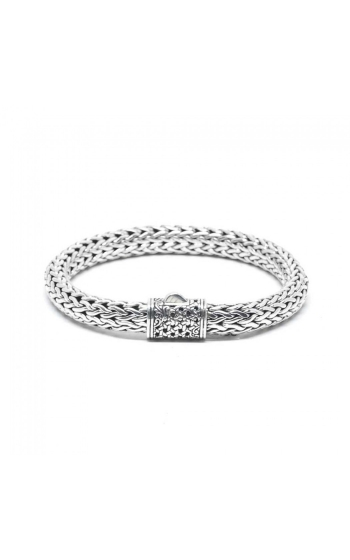 House of Bali Classic Woven Chain Silver Bracelet BSTR550 product image