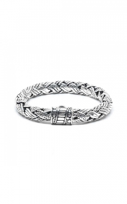 House of Bali Braided Rope Chain Silver Bracelet BTP128  product image