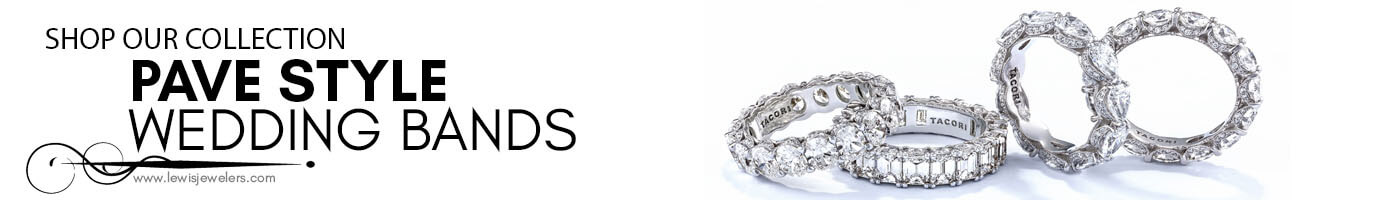 Pave Wedding Bands at Lewis Jewelers