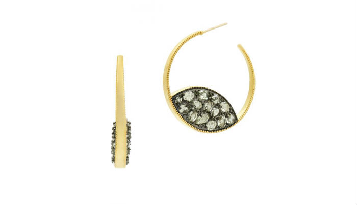 Freida Rothman Hoop Earrings