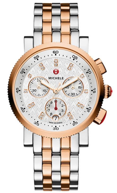 Michele Sport Sail Diamond Dial Watch Available at Lewis Jewelers