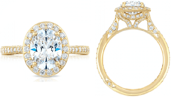 Tacori Yellow Gold Engagement Rings from Lewis Jewelers