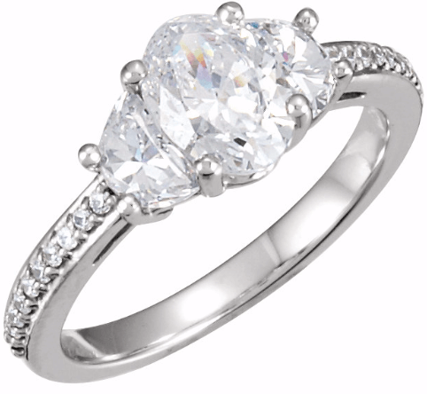 Stuller Three Stone Engagement Ring from Lewis Jewelers